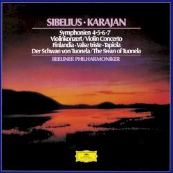 Symphonien 4, 5, 6, 7 / Violinkonzert / Finlandia / Valse triste / Tapiola / Der Schwan von Tuonela by Sibelius ;   Karajan ,   Berliner Philharmoniker